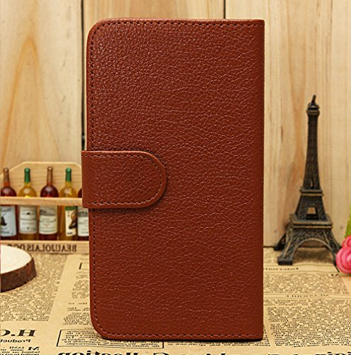 Mylife (Tm) Chocolate Brown {Classic Design} Faux Leather (Card, Cash And Id Holder + Magnetic Closing) Slim Wallet For The All-New Htc One M8 Android Smartphone - Aka, 2Nd Gen Htc One (External Textured Synthetic Leather With Magnetic Clip + Internal Sec