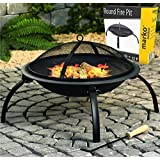 Round Fire Pit Folding Patio Garden Bowl Outdoor Camping Patio Heater Log BBQ Kotlich