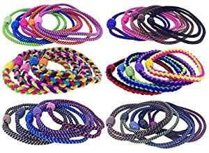 iOna Beauty Essentials Hair Pony Tail Holder Ponios Elastic Rope Rubber Band PTSET3G7 for Girls 7