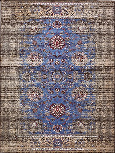 Vintage Contemporary Inspired Overdyed Distressed Rugs Blue 4' x 6' Chelsea Rug Traditional Area Rug Living room Bedroom Dining room Carpet