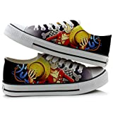 One Piece Anime Cosplay Shoes Canvas Shoes Sneakers Colourful Low Cut 4 (Color: Picture 3, Tamaño: 8 D(M) US Male)