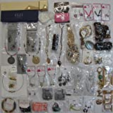 58 Below Wholesale Jewelry Lot Costume Fashion Mixed including NEW YORK & COMPANY XHILARATION 37 Earrings 13 Necklaces 4 Bracelets 2 Anklet Toe Ring Sets Purse Charm INVENTORY LIQUIDATION CLEARANCE SALE