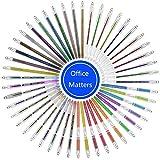 オフィスメーカ (OM) カラーペン水彩ペン シンプル簡約の設計 透明プラスチック製の収納ケース 大人の塗り絵用 文具 お絵描き 事務学習彩色用 48色セット