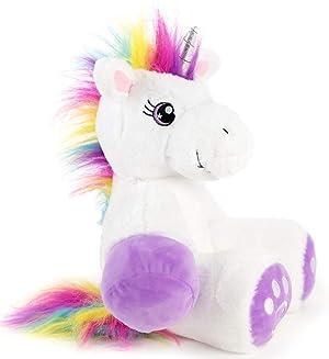 Plushible Unicorn Stuffed Animal for Kids - Big Stuffed Unicorn for Girls - Medium (34) (Tamaño: Medium)