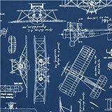 Amazon.com: Timeless Treasures Fabric Vintage Airplane ...