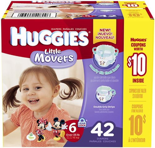 Huggies Little Movers Diapers - Size 6 - 42 ct - 1
