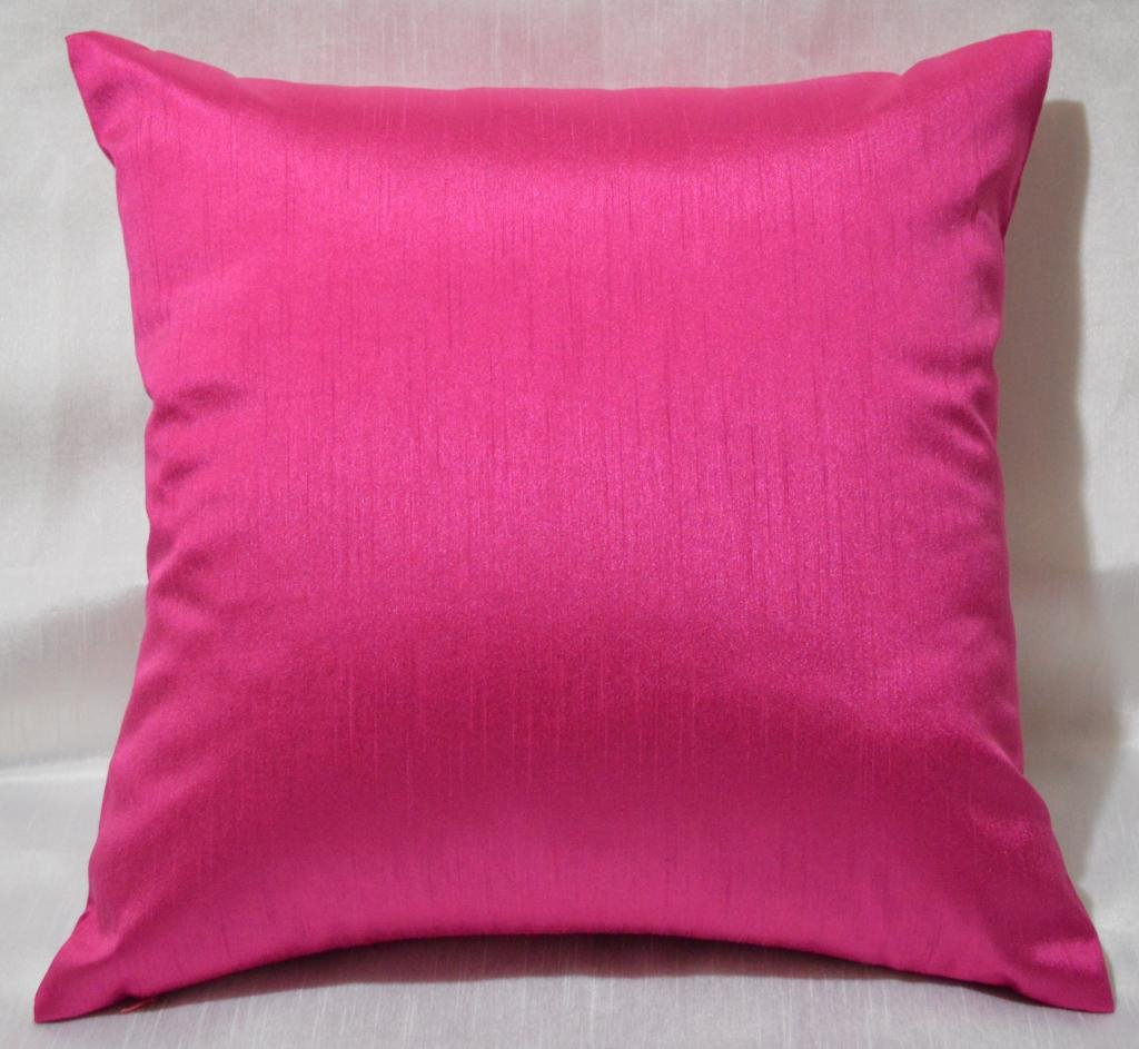 Pink Petal Decorative Throw Pillow · Faux Silk Euro Shams Pillow Cover