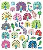 Multi-Colored Stickers-Peacock Splendor