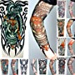 8 x Stretch Nylon Fake Tattoo Sleeves / Arms - Fancy Dress, Tribal / Tiger / Skull Tattoo