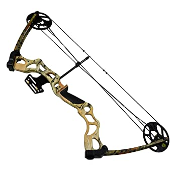 "30-70 lb Black / Camouflage Camo Archery Hunting Compound Bow +3 30"" Arrows / Bolts 175 150 70 55 40 30 lbs Crossbow"