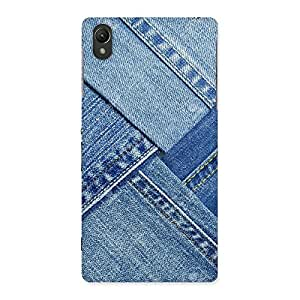 Cute Denim Texture Print Back Case Cover for Sony Xperia Z2