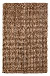 Handspun Jute Area Rug – 2×3 feet – by Iron Gate – Hand woven and Hand stitched – 100% Natural…