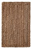 Iron Gate Handspun Jute Area Rug 8.6x12 Hand woven by Skilled Artisans, 100% Natural eco-friendly Jute yarns, Thick ribbed construction, Reversible for double the wear, Rug pad recommended