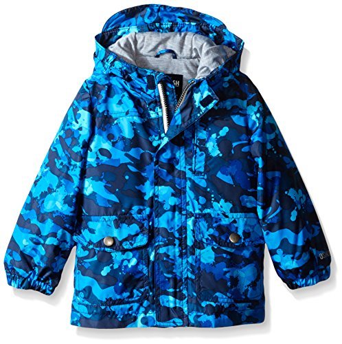 Osh Kosh Toddler Boys Enhanced Radiance Printed Rain Slicker, Blue, 4T (Rain Jacket Toddler compare prices)