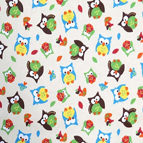 Discover Bargain SheetWorld Fitted Pack N Play (Graco Square Playard) Sheet - Owls - Made In USA