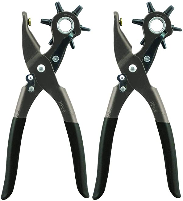 General Tools 72 Leather Hole Punch Tool, 5/64 Inch to 3/16 Inch 2 Pack
