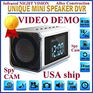 TOP Secret Spy Camera Mini Clock Radio Hidden DVR- Continuous power or battery