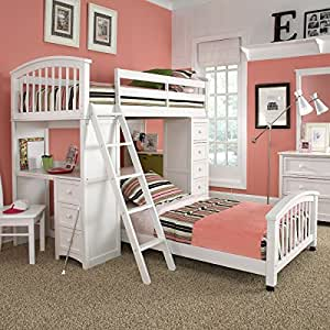 schoolhouse student loft bed white loft bed set only no bottom bunk bed kitchen. Black Bedroom Furniture Sets. Home Design Ideas