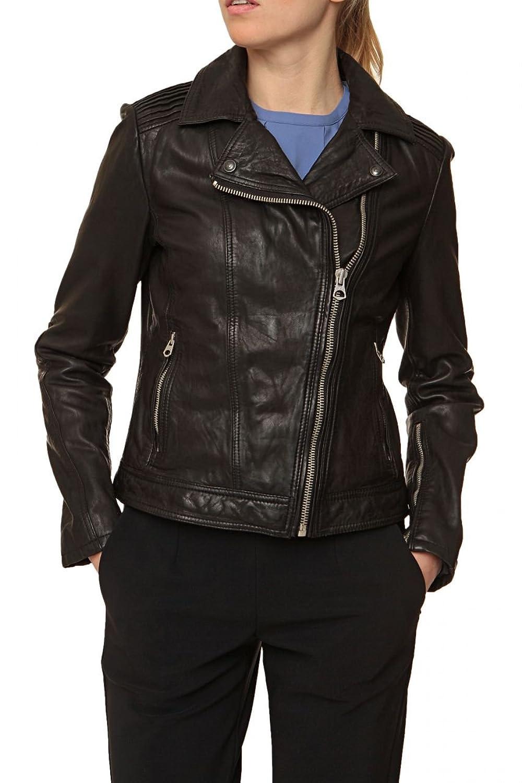 CAMPUS Damen Jacke Lederjacke ROXY, Farbe: Schwarz günstig online kaufen