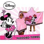 Disney Minnie Mouse Pink Hooded Bath Towel