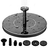 BESTEASY Solar Powered Bird Bath Fountain Pump 1.4W Solar Panel Kit Water Pump Outdoor Watering Submersible Pump for Garden, Pool and Patio