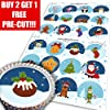 Cakeshop Assorted Christmas Edible Cake Toppers