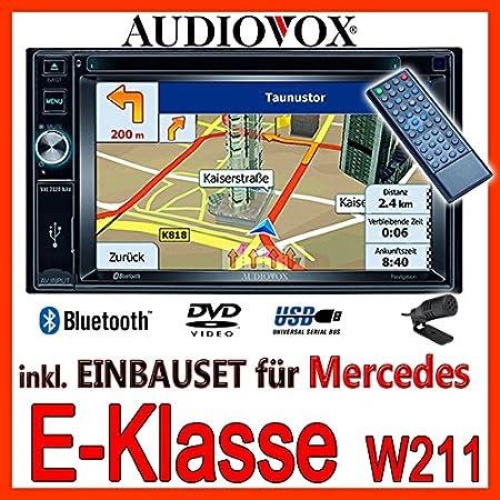 Mercedes-benz w211 classe e-audiovox vXE7020 navigationsradio uE autoradio navi dVD avec écran tFT bluetooth