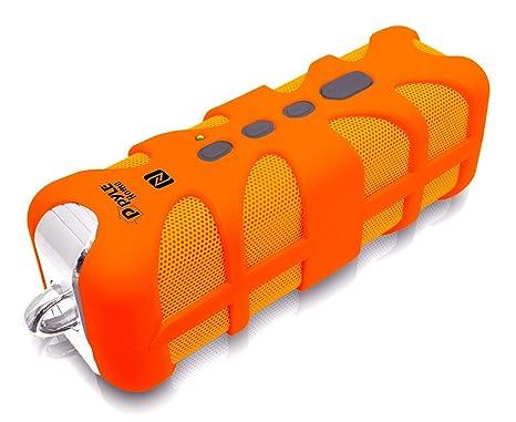 Pyle PWPBTN65OR Pyle bluetooth/NFC rugged splash proof speaker orange