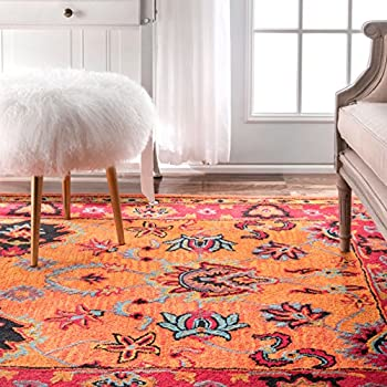 nuLOOM Orange Hand Tufted Montesque Runner, 2 6