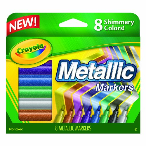 CRAYOLA LLC CRAYOLA METALLIC MARKERS 8 COLORS (Set of 6)