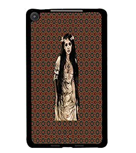 PrintDhaba Crying Girl D-4557 Back Case Cover for ASUS GOOGLE NEXUS 7 2013 (Multi-Coloured)