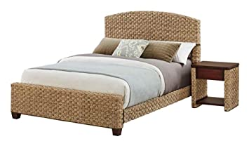 Home Styles Model 5403-5017 Cabana Banana Ii Bed and Night Stand, Queen, Honey Finish