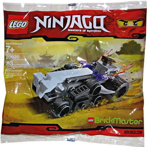 LEGO Ninjago figura Brickmaster Mini Exclusivo Set # 20020 Shredder Turbo Bagged