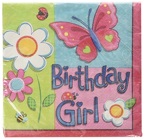 Amscan International Napkins Garden Girl Luncheon