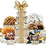 Wine Country Fathers Day Tower of Sweets Gift Basket