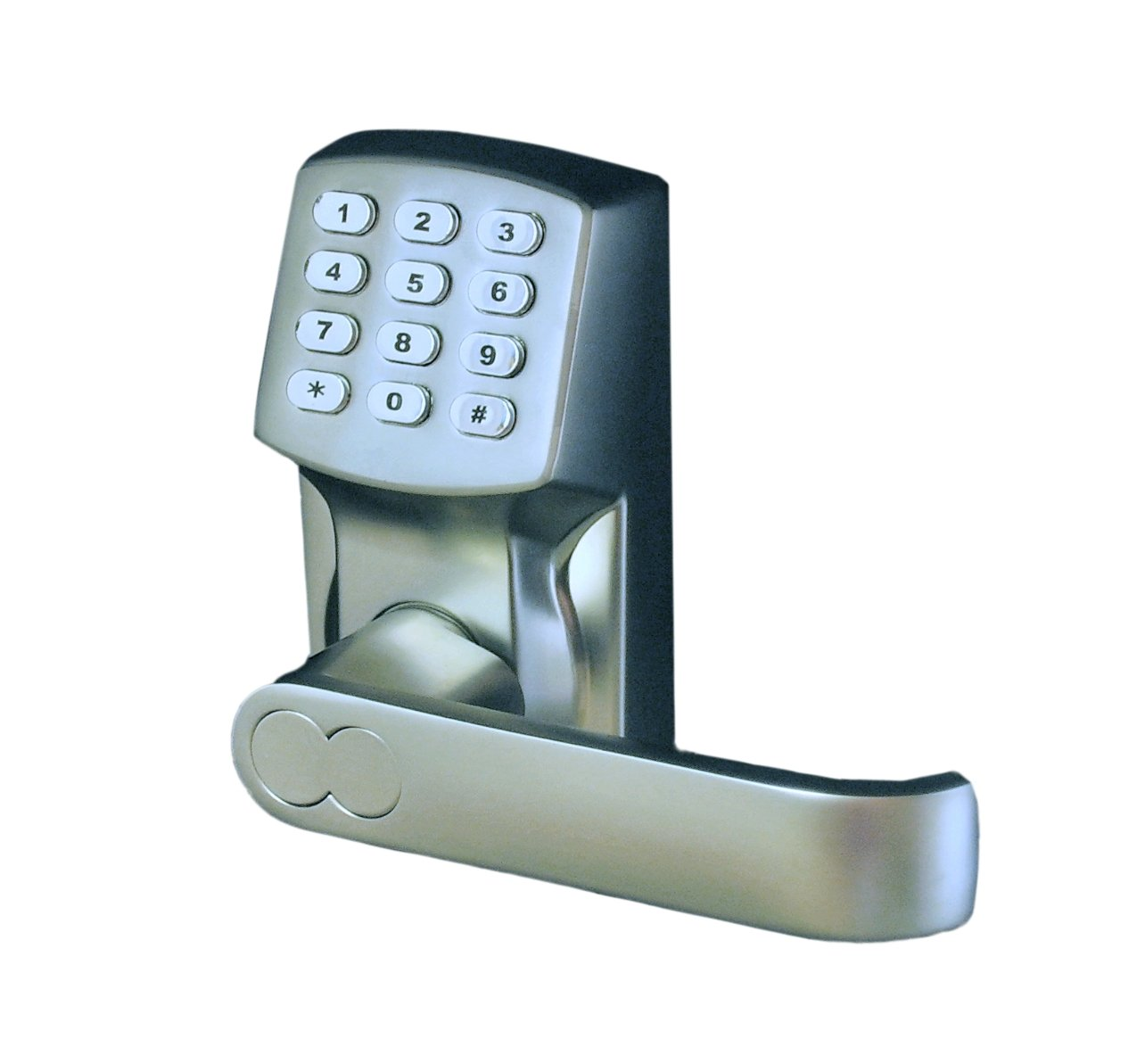 Electronic Keyless Door Lock Set Satin Nickel For Right
