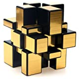 TANCH Dysmorphism Mirror Surface Speed Magic Cube 3x3 Puzzle for Children & Adults Gold