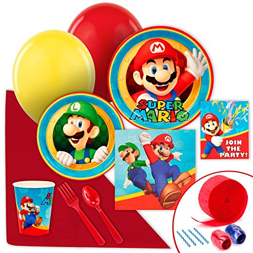 Super Mario Party Supplies - Value Party Pack