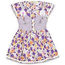 Rush Me Baby Girls' Dress (S.R.2012_4 Years, 4 Years, Voilet)