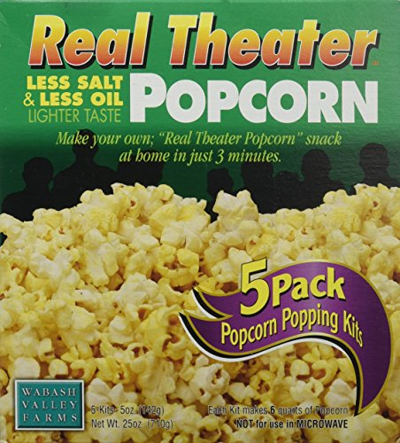 Wabash Valley Farms Popcorn All-Inclusive Popping Kits - Real Theater Less Salt & Less Oil Popcorn - 5 Pack - 25oz (Wabash Valley Farms Popcorn Kits compare prices)