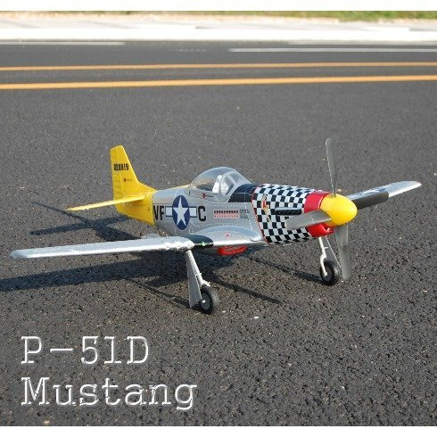 P-51 MUSTANG Airplane ~ Brushless Electric ~ RC - remote Control ~ by Redcat Racing