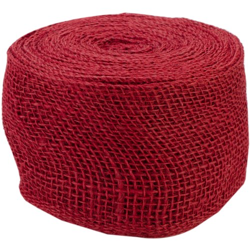 Red Jute Burlap Ribbon