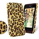 Femeto Yellow Leopard Fur Back Cover Case for HTC Rhyme HTC Rhyme Case Cover