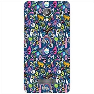 Design Worlds - Micromax Canvas Spark Q380 Designer Back Cover Case - Multi...