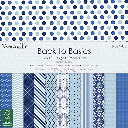 dovecraft-back-to-basics-blue-skies-12-x-12-fsc-papierset-mehrfarben