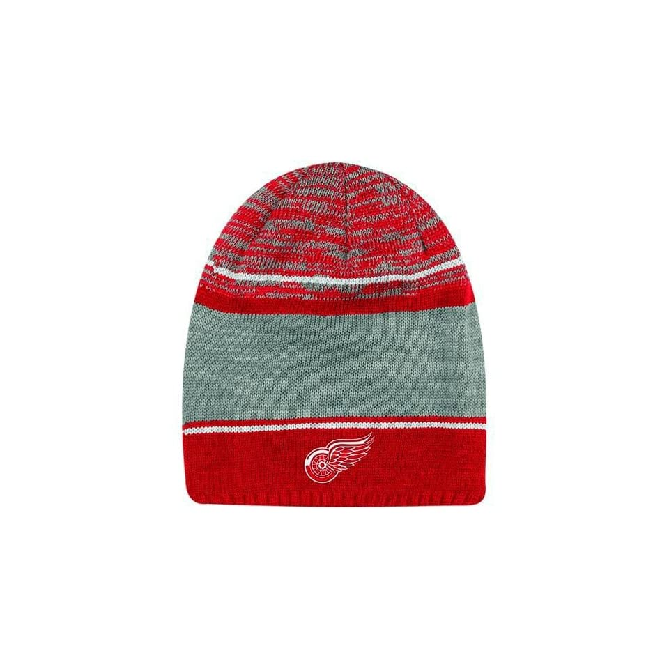 a91ff3ba3f6 Detroit Red Wing hat Reebok Detroit Red Wings Face off Long Knit Hat ...