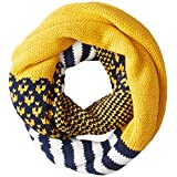 Keds Women's Multi Pattern Infinity Scarf, Golden Glow, One Size
