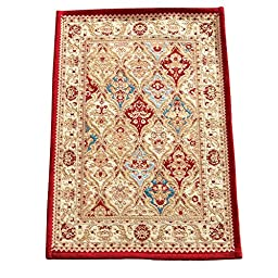 Vallencia Floral Tapestry Rug, Burgundy, 30\