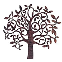 Large Rusty Finish Metal Tree Garden Home Wall Art from Gardens2you