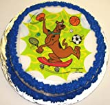 "Scooby Doo Hazelnut Decorated Cake Single Layer 8"" Round Orange Trim"